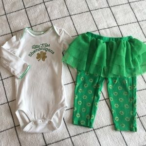 Little Miss Shenanigans St Patrick's Day Outfit☘️